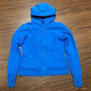 🌟 EUC Lululemon Gorgeous Blue Scuba Hoodie